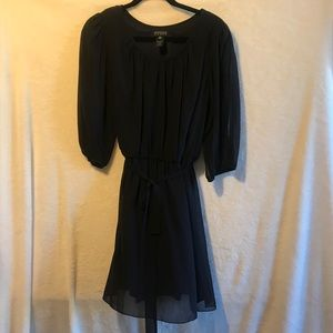 ENFOCUS Women black sheer lined dress